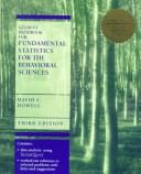 Student Handbook for Fundamental Statistics for the Behavioral Sciences