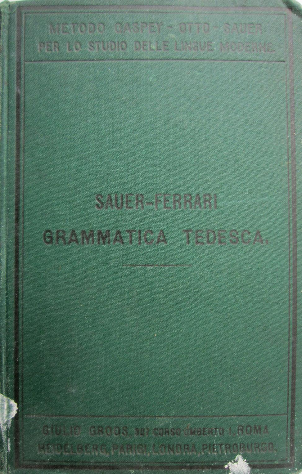 Grammatica della lingua tedesca