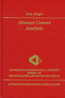Abstract Convex Analysis