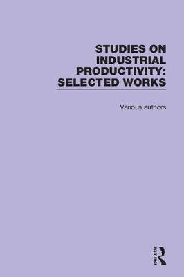 Studies on Industrial Productivity