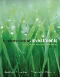 e-Study Guide for: Fundamentals of Investments by Bradford D. Jordan, ISBN 9780077283292