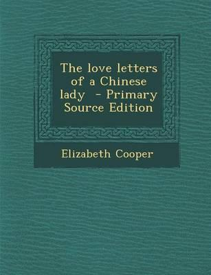 The Love Letters of a Chinese Lady