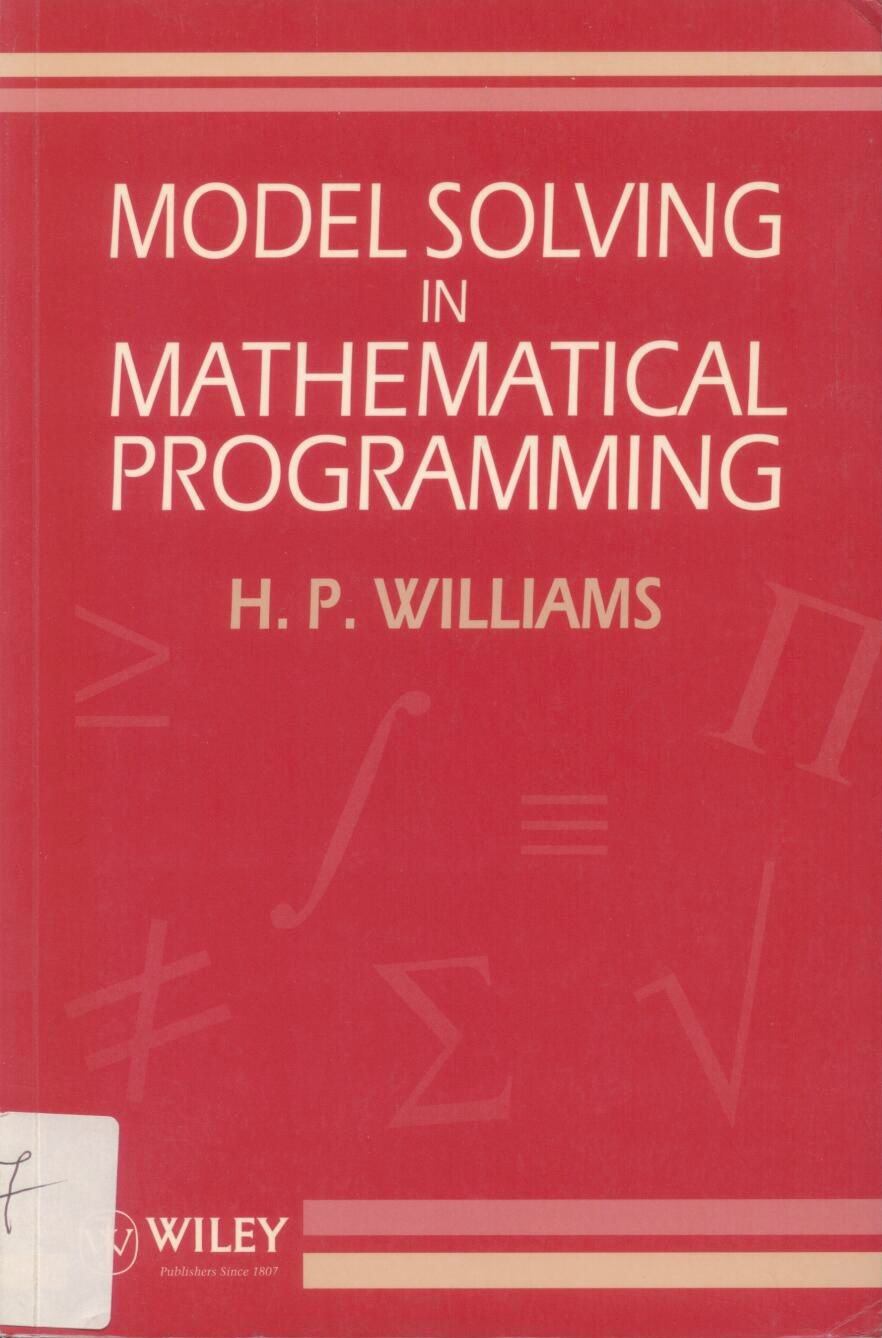 Model Solving in Mathematical Programming