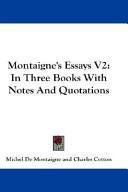 Montaigne's Essays V2