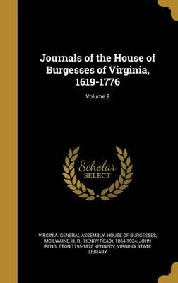 JOURNALS OF THE HOUSE OF BURGE
