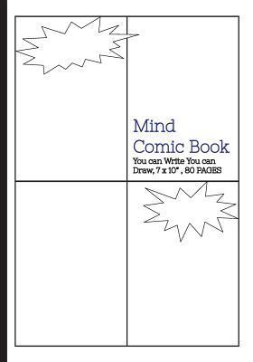 Mind Comic Book - 7 X 10 80 P , 4 Panel, Blank Comic Books,create by Yourself