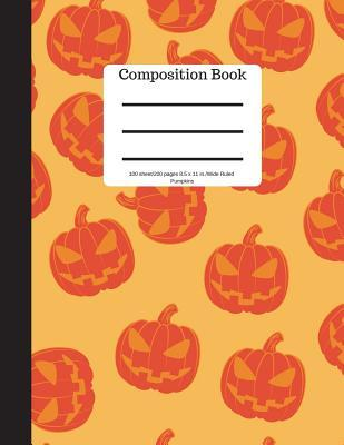 Composition Book 100 sheet/200 pages 8.5 x 11 in.-Wide Ruled- Pumpkins