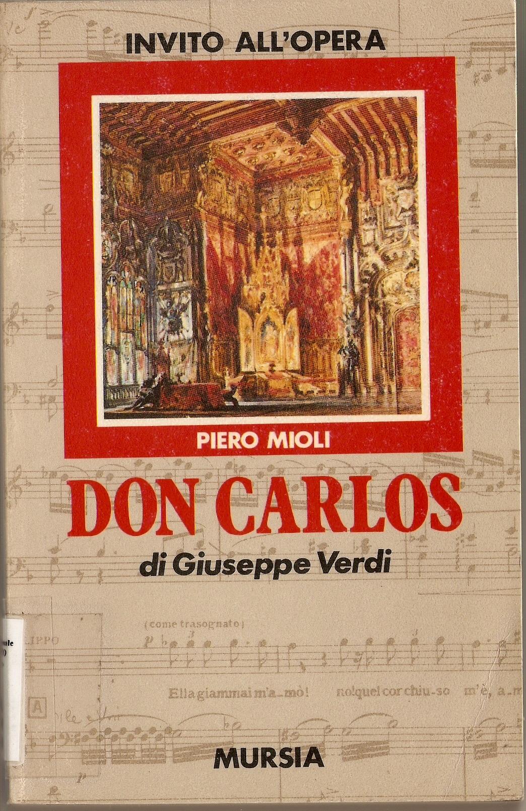Don Carlos di Giuseppe Verdi