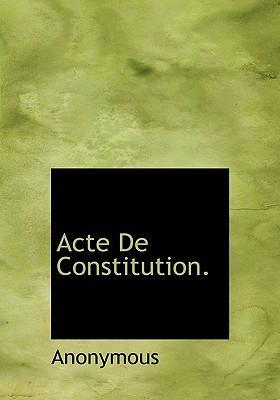 Acte de Constitution
