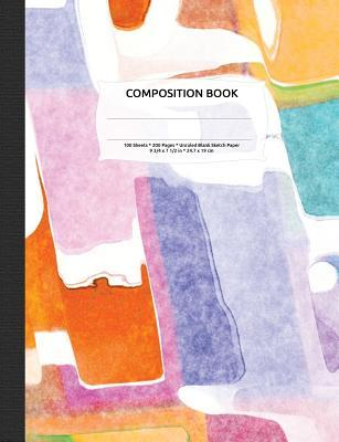 Abstract Watercolor Composition Notebook