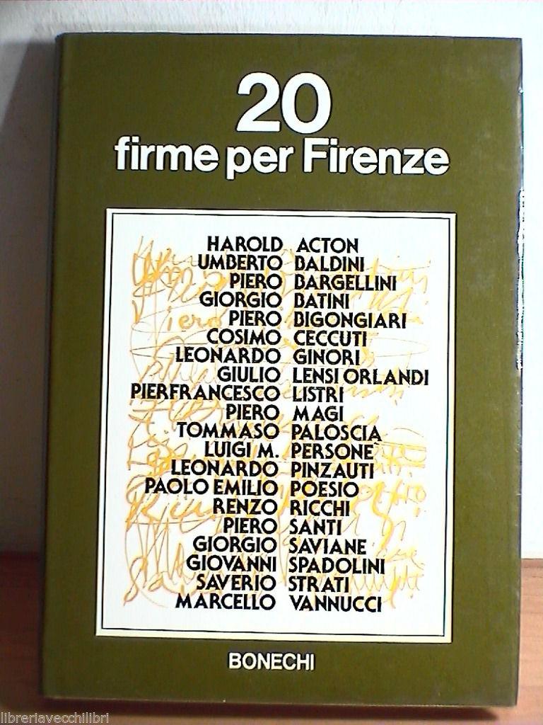 20 firme per Firenze