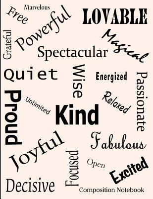 Affirmation Words Composition Notebook