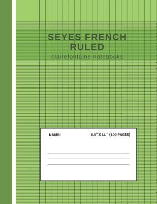 Seyes French Ruled Clairefontaine Notebooks