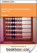 Real Functions of Several Variables - Basic Con...