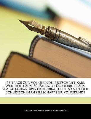 Beiträge Zur Volkskunde