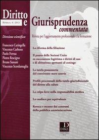 Diritto e giurisprudenza commentata (2013)