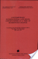 Contemporary International Law Issues
