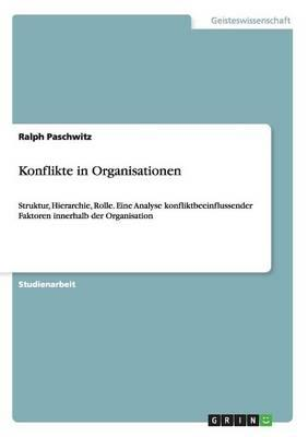 Konflikte in Organisationen