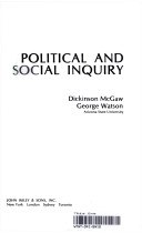 Political and social inquiry