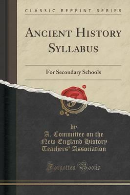 Ancient History Syllabus