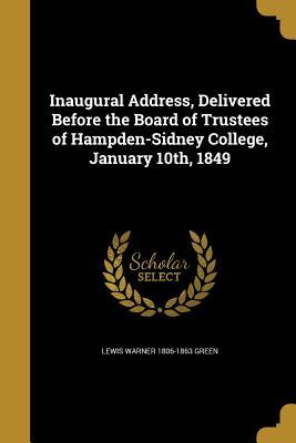 INAUGURAL ADDRESS DELIVERED BE