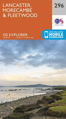 OS Explorer Map (296) Lancaster, Morecambe and Fleetwood