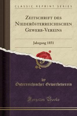 Zeitschrift des Niederösterreichischen Gewerb-Vereins