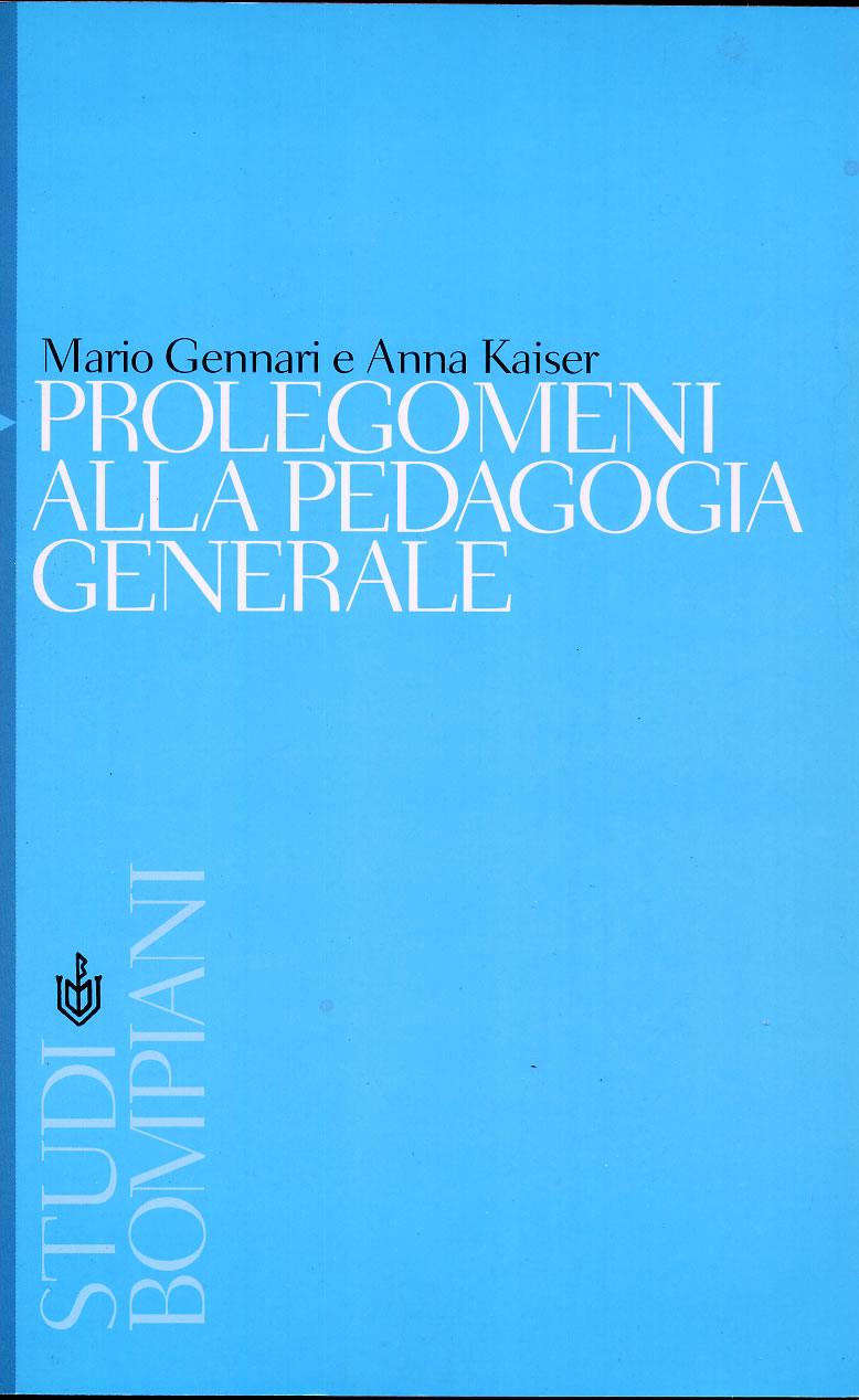Prolegomeni alla pedagogia generale
