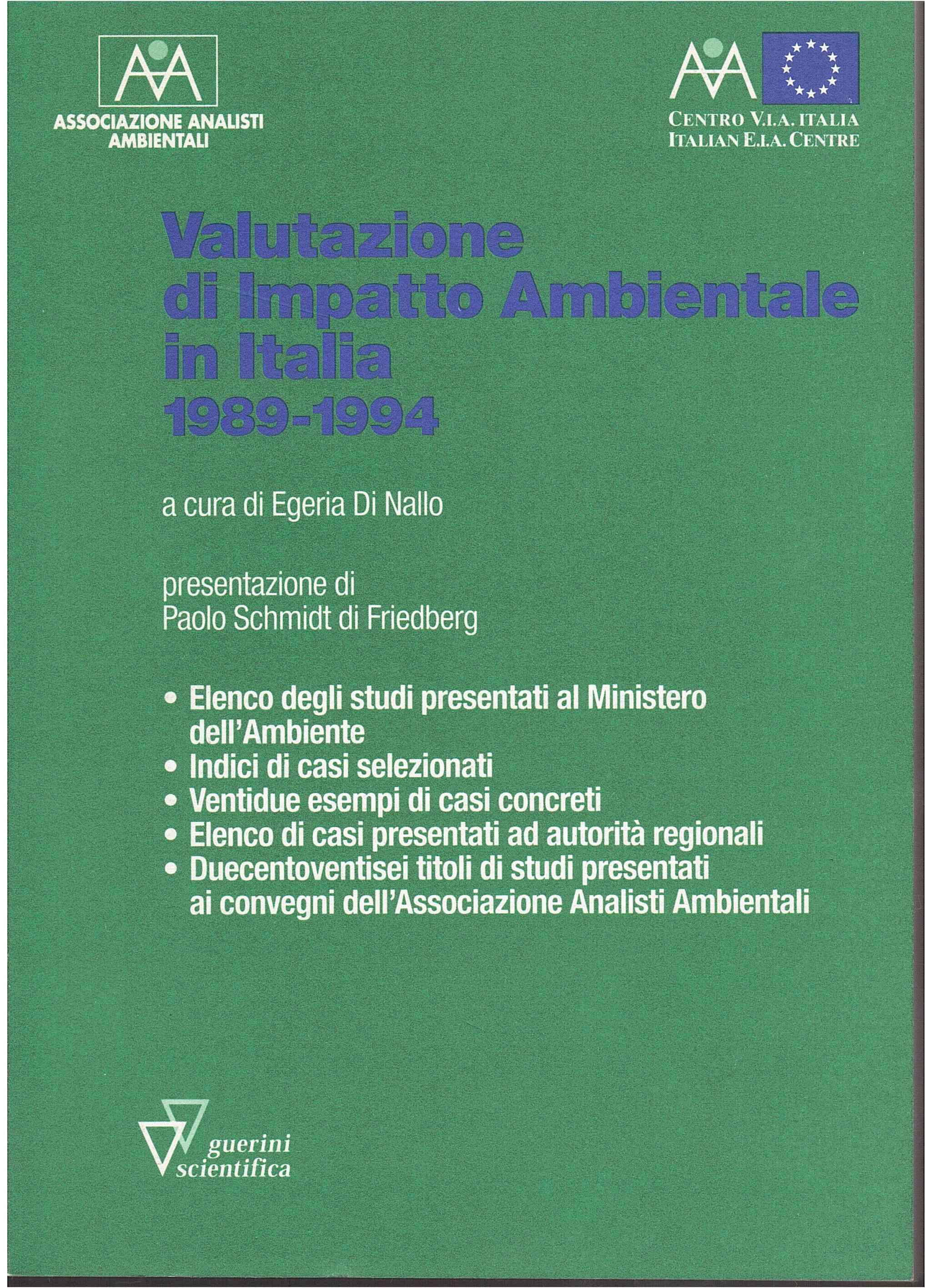 Valutazione di impatto ambientale in Italia (1989-1994)