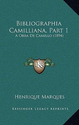 Bibliographia Camilliana, Part 1