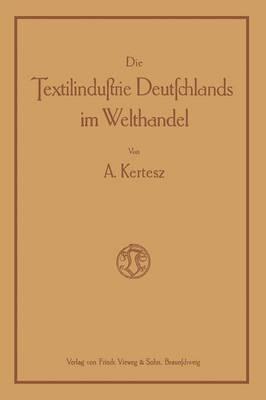 Die Textilindustrie Deutschlands Im Welthandel