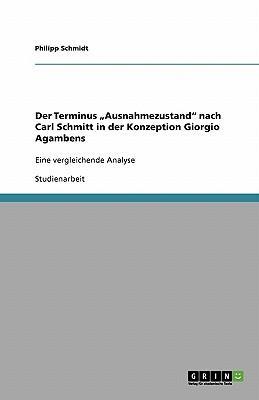 """Der Terminus """"Ausnahmezustand"""" nach Carl Schmitt in der Konzeption Giorgio Agambens"""