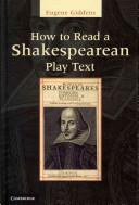 How to Read a Shakespearean Play Text