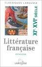 Anthologie de la littérature française