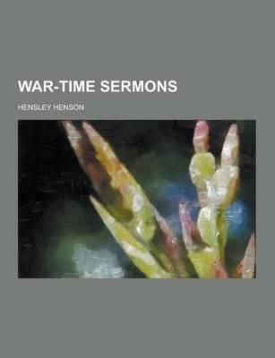 War-Time Sermons