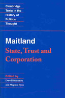 Maitland: State, Trust and Corporation