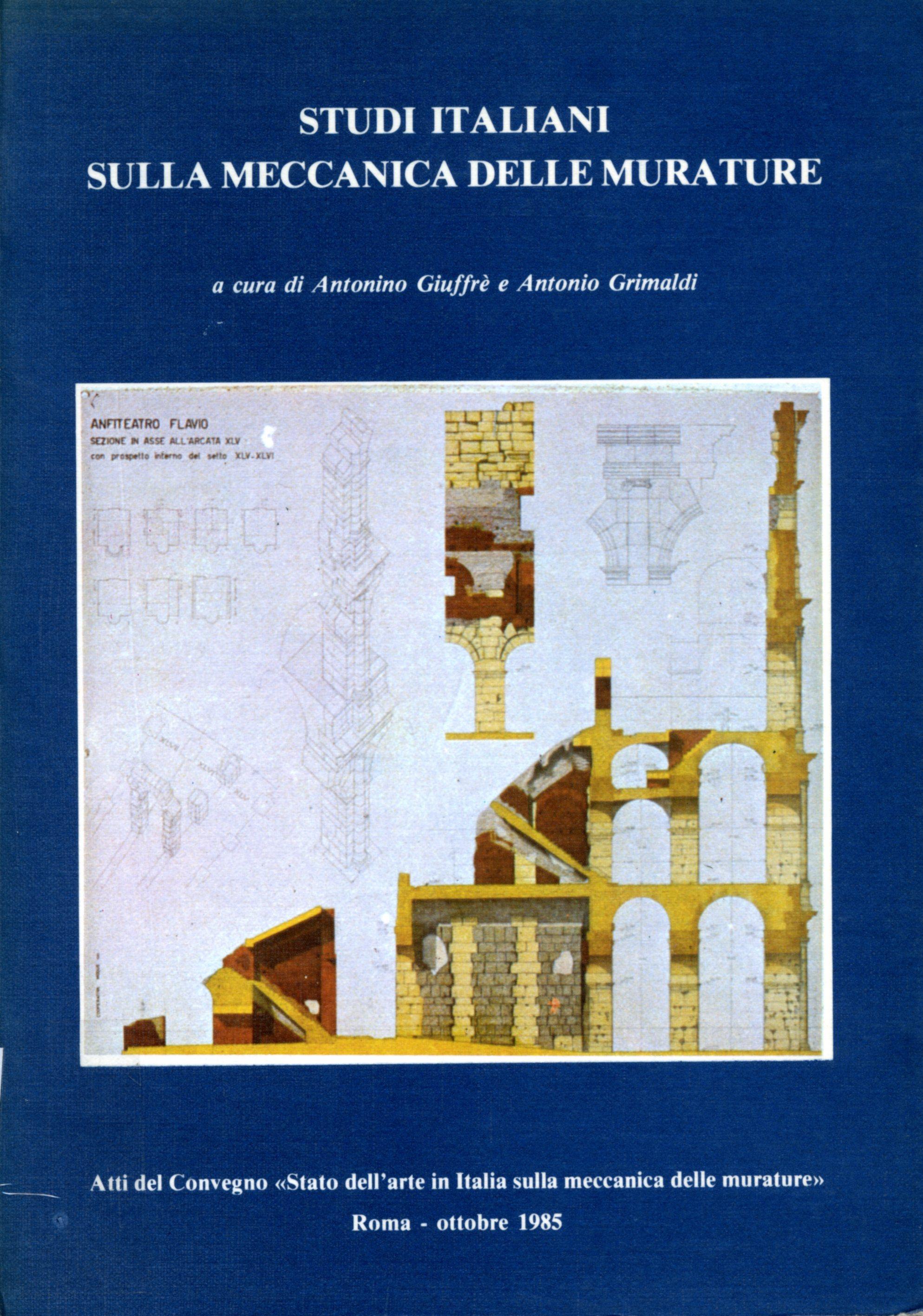 Studi Italiani sulla meccanica delle murature