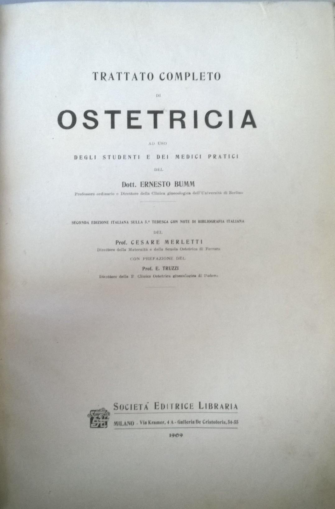 Trattato completo di ostetricia