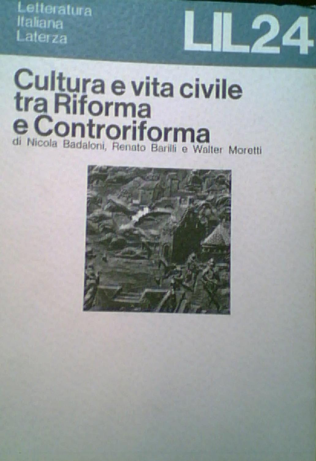 Cultura e vita civil...