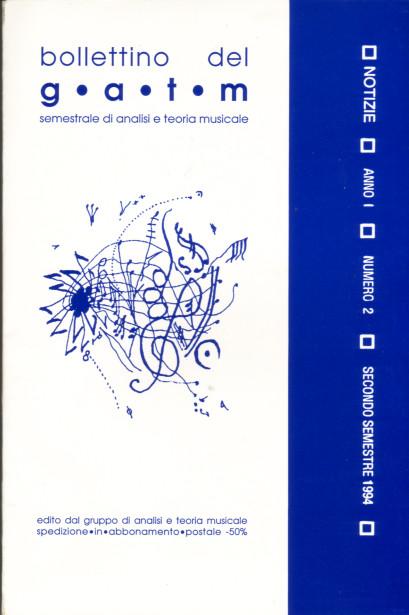Bollettino del G.A.T.M. - A. 1 n. 1 (1° semestre 1994)
