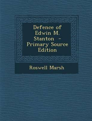 Defence of Edwin M. Stanton