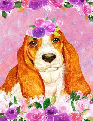 My Big Fat Journal Notebook For Dog Lovers Basset Hound In Flowers