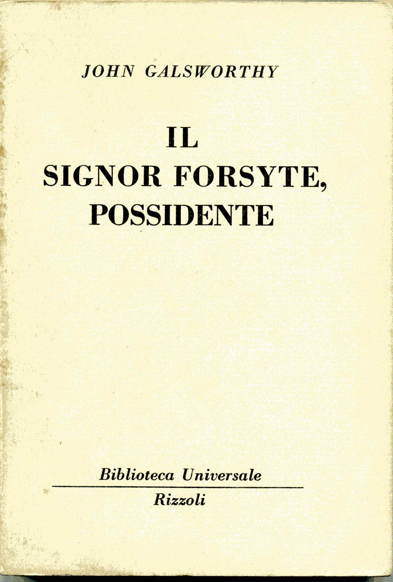 Il signor Forsyte, possidente