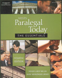 e-Study Guide for: Wests Paralegal Today: Essentials by Roger LeRoy Miller, ISBN 9781418050320