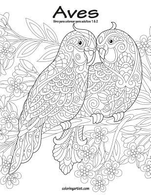 Aves libro para colorear para adultos 1 & 2