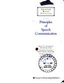 Principles of speech...