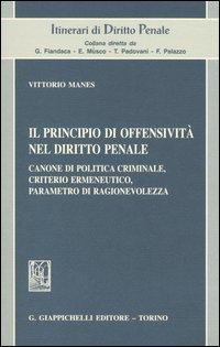 Il principio di offensività nel diritto penale