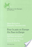 For Peace in Europe