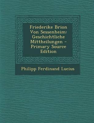Friederike Brion Von Sessenheim