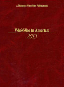 Who's Who in America 2013